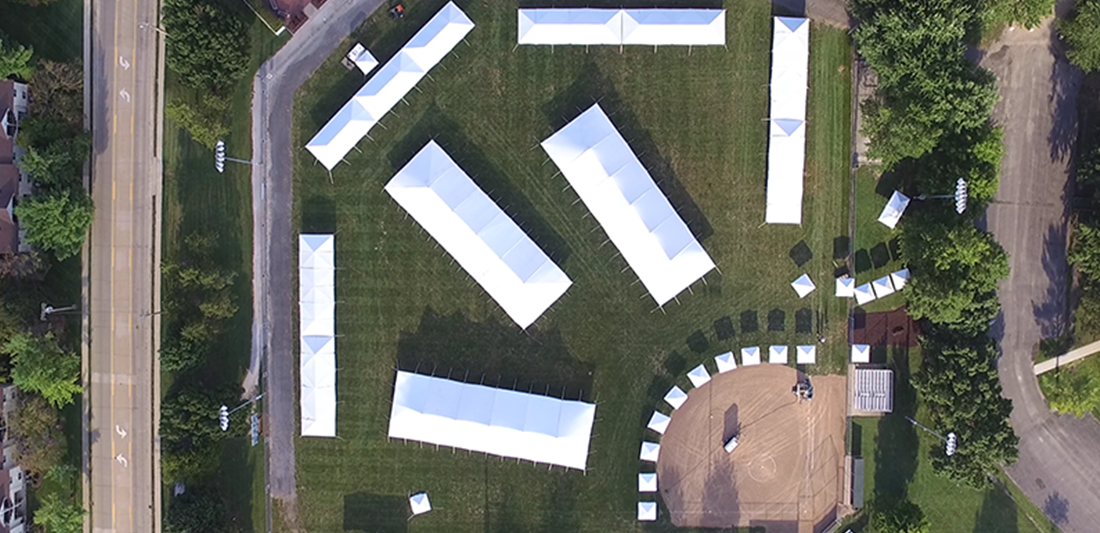 Midwest Salute to the Arts Festival Tents