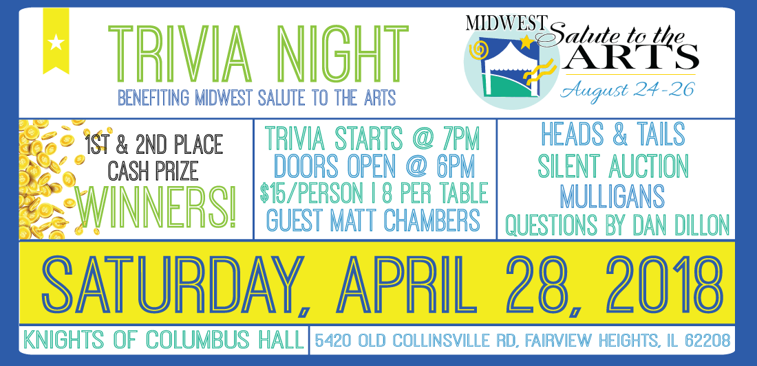 Trivia Night | Midwest Salute to the Arts Festival Events