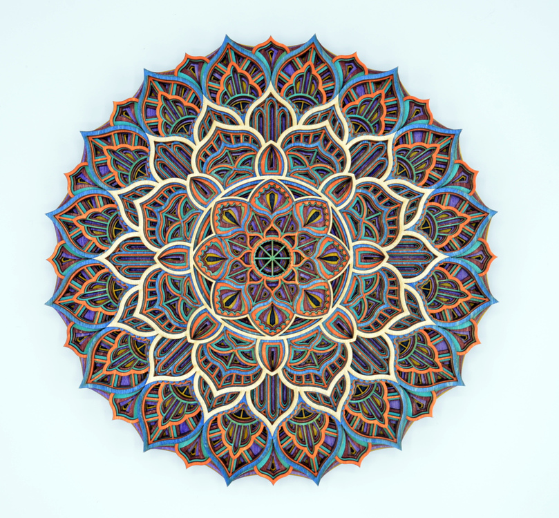 DeGuire Round Complimentary Colors Mandala #16