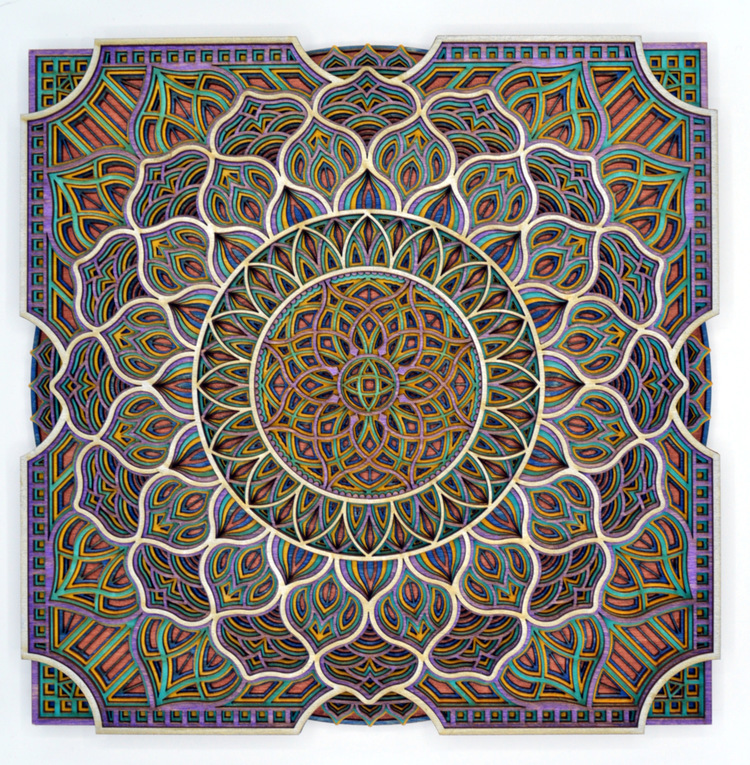 DeGuire Square Watercolor Mandala #8