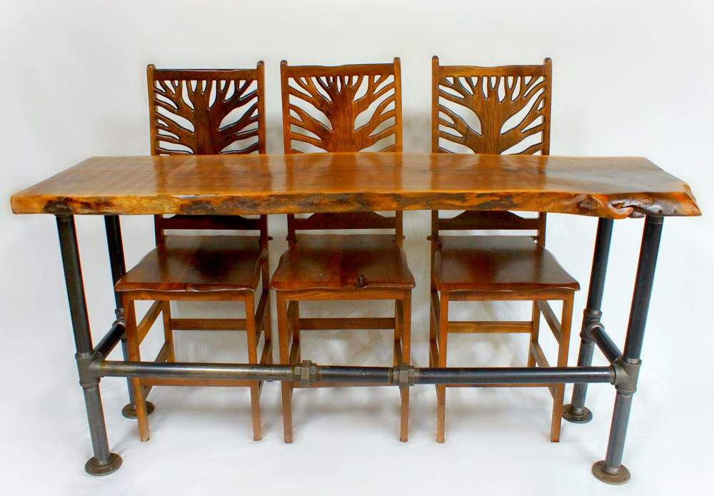 Shotton Industrial table and Tree of Life chairs